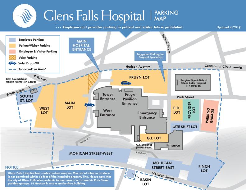 Glens Falls Hospital Parking Map