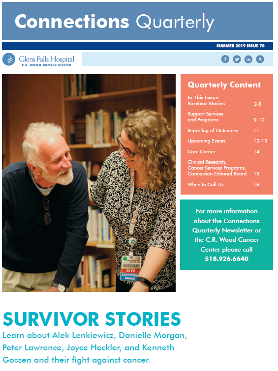 Connections Newsletter Cover - Cancer Center