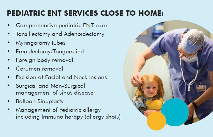 pediatric ent services close to home